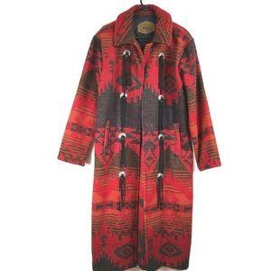 Vintage Woolrich Southwest Blanket Duster Coat